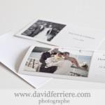 Cartes de Remerciements format 20 x 10 cm pour votre Mariage