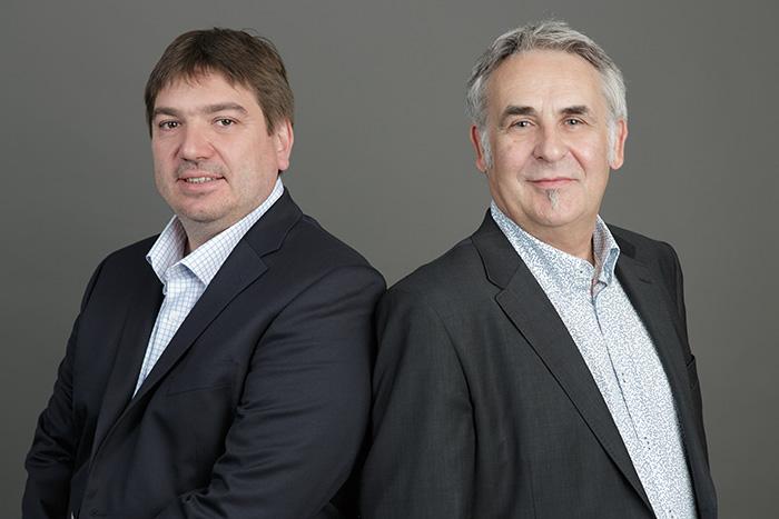 S. CROQUISON et B. GRANDJEAN, fondateurs de la societe http://www.in-pluvia.com