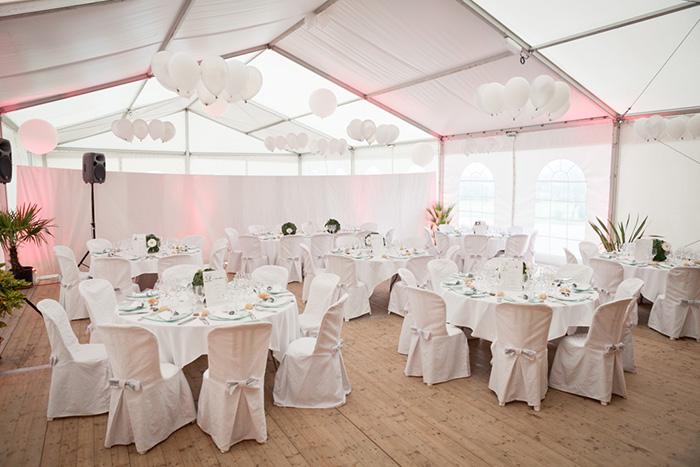 mariage chateau de la robinais decoration diner