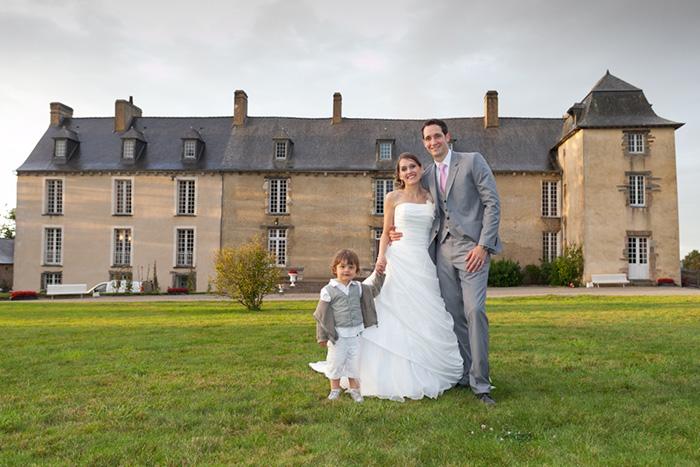 mariage chateau de la robinais couple