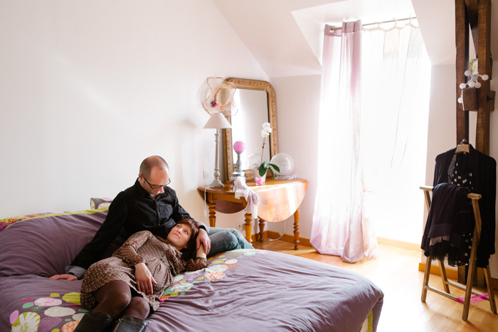portrait original à domicile femme enceinte pres de rennes bretagne