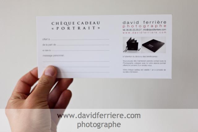 chèque cadeau portrait