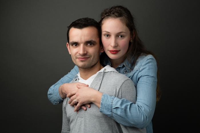 rennes portrait couple studio amoureux complices