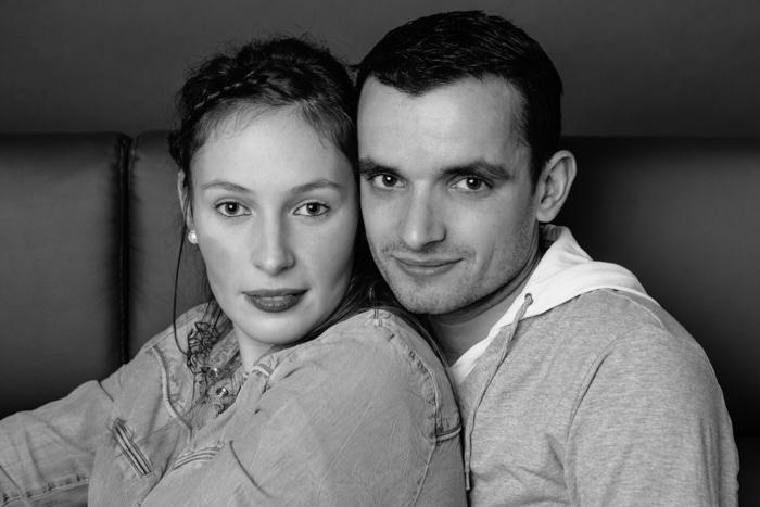 rennes photo couple love session noir et blanc