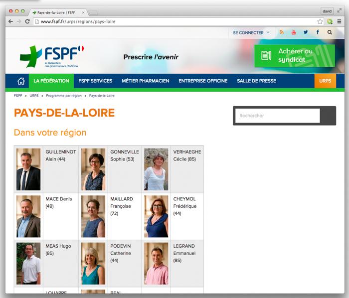 FSPF URPS BRETAGNE PAYS DE LOIRE