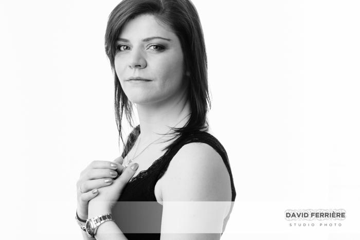 rennes photographe portrait femme en studio