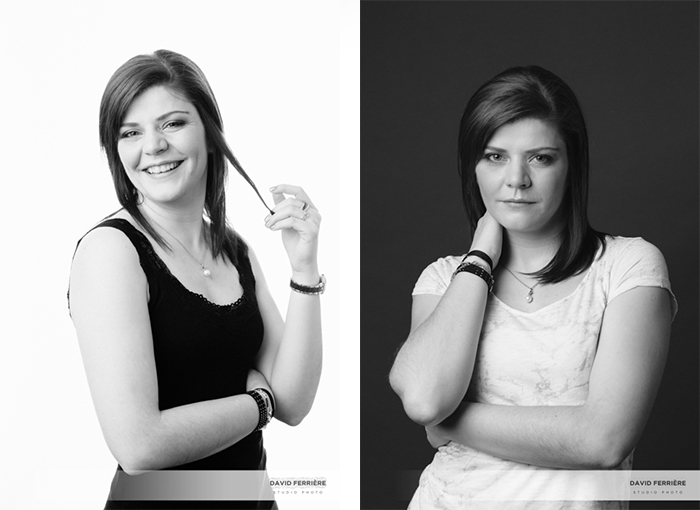 rennes photographe portrait femme en studio original