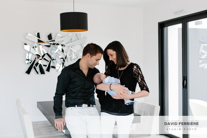 conseil seance photo portrait tenue noire et bebe