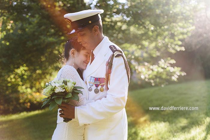 photographe mariage marin militaire rennes bretagne golden hour portrait