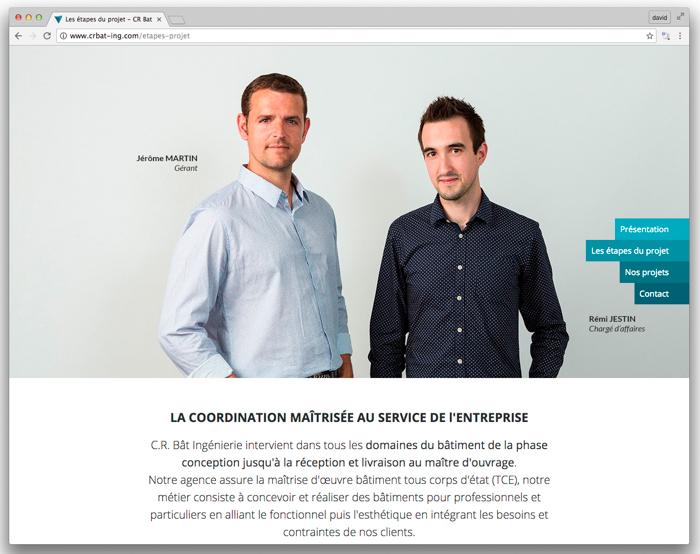 C.R. Bât ingénierie portraits pro entreprise rennes pour votre site internet