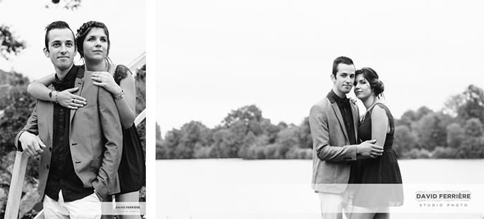 shooting photo couple homme femme elegant couleur noir et blanc