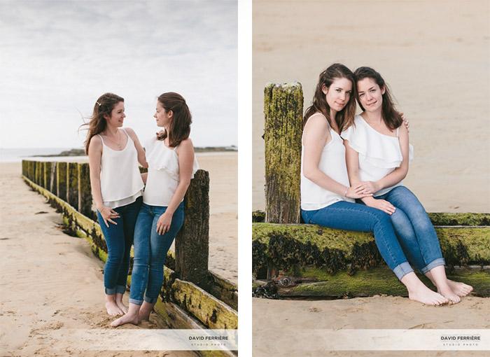 portrait feminin shooting soeur jumelles saint malo