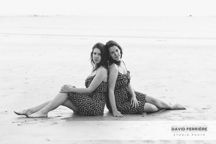 photo fratrie soeurs jumelles plage saint malo mer bretagne objectif decentrement canon ts-e 45mm f/2.8
