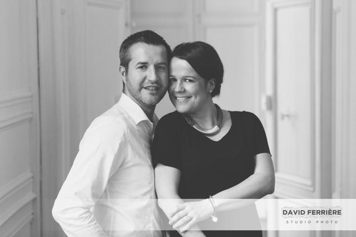 rennes photo couple portrait noir et blanc