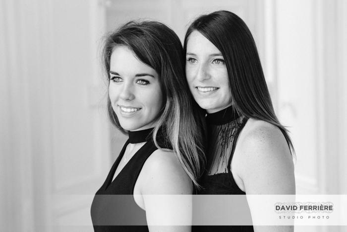 portrait soeurs noir et blanc rennes photo originale belle