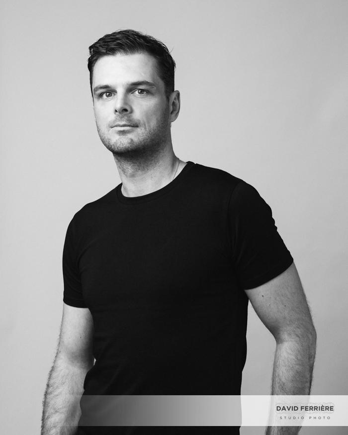 portrait masculin photo homme noir et blanc rennes photographe