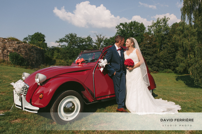 photographe photo mariage 2CV citroen collection rennes bretagne