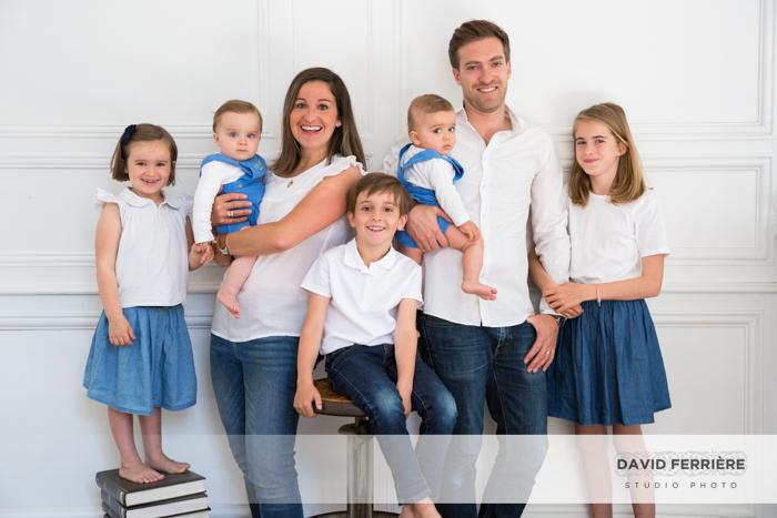 rennes portrait famille nombreuse enfants jumeaux studio photo shooting