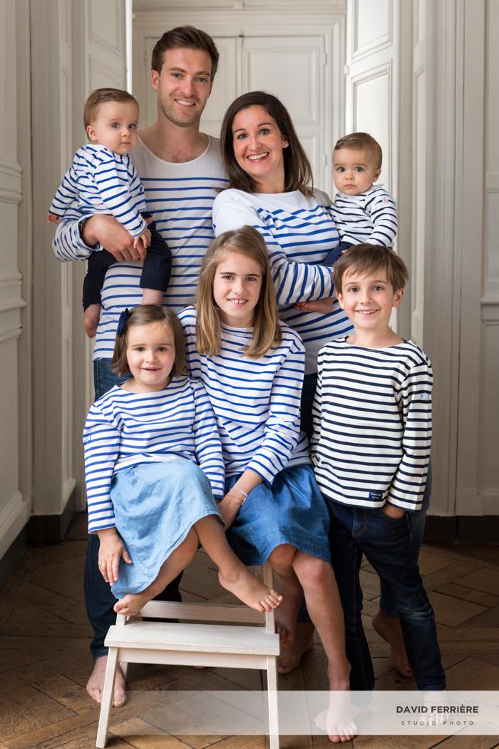 portrait de famille en marinière