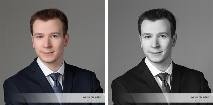 photo portrait cv recherche stage emploi rennes pro couleurs noir et blanc