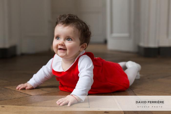 photo portrait rennes enfant robe rouge