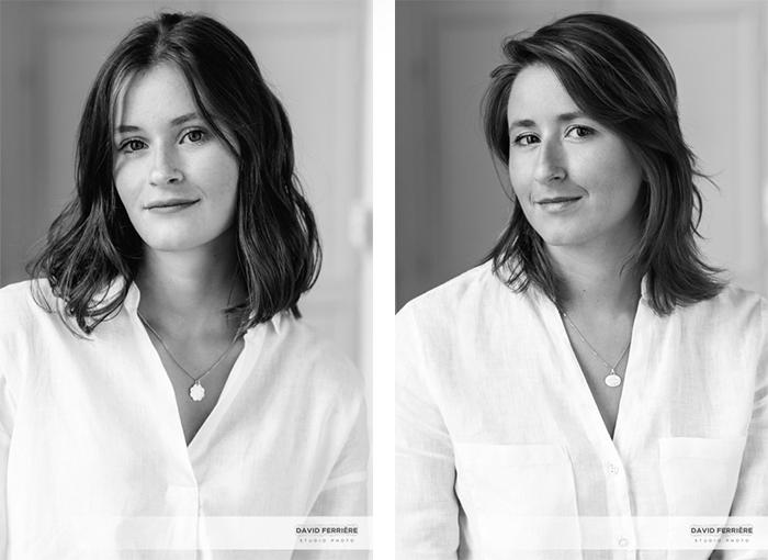 portrait entre soeurs noir et blanc rennes studio photo