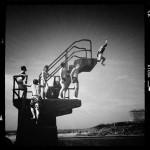 le plongeoir de la piscine de mer de saint malo