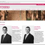 portraits des dirigeants et de l'équipe d'Athena (conseil, finance et ingénierie)