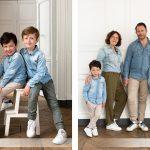 Messieurs P. et V. et leurs parents : une séance portrait en famille